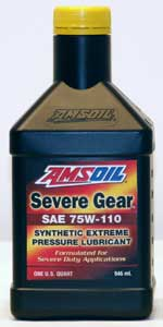 SEVERE GEAR® Synthetic Extreme Pressure (EP) Lubricant 75W-110 (SVT)   S2000 REAR DIFF FLUID